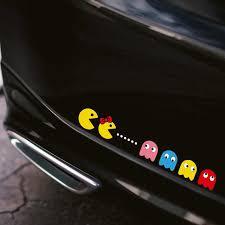 Noizzy Colorful Pacman Car Sticker Window Hellaflush Decal Bomb Jdm Cartoon Vinyl Auto Windshield Tuning Accessories Car Styling Car Stickers Aliexpress