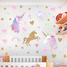 Rainbow Pony Princess Wall Decal My Little Horse 3d Wall Sticker Kids Bedroom Nursery Decoration Marvel Poster Cartoon Wallpaper Wall Stickers Aliexpress