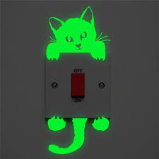 Light Switch Sticker Luminous Wall Stickers Cartoon Glow In The Dark Sticker Decal For Kids Room Decoration Home Decor Cat Fairy Wall Decals For Nursery Wall Decals For Sale From Goodcomfortable 0 69