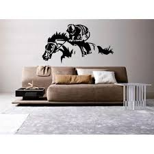 Horse Racing Art Wall Decal Sticker Home Kitchen Racing Art Horse Decor Horse Racing