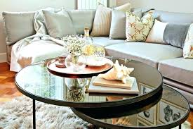 ottoman style coffee table trays ideas