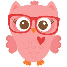 cute cartoon owls with glasses clip