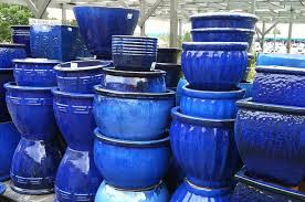 looking for nice blue planters for the