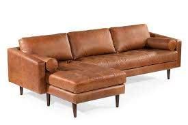 napa left sectional sofa leather
