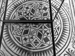 geometric patterns of a roman mosaic