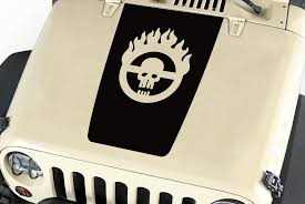 Hood Blackout Mad Max Skull Vinyl Decal Sticker 18 Fit Jeep Wrangle Roe Graphics And Apparel