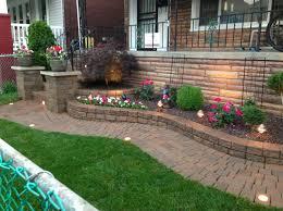 brick raised flower beds interesting