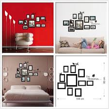 10x Picture Photo Frame Wall Mural Frames Sticker Vinyl Decal Home Diy Wish