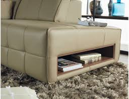 pac l shape leather sofa motorised