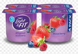 mixed berry nonfat yogurt dannon