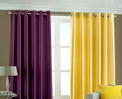 purple and yellow kitchen curtains