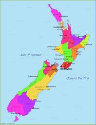 Mappa Nuova Zelanda - AnnaMappa.com