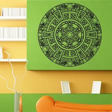 Indian God Mandala Ornament Wall Sticker Vinyl Mural Decal Home House Art Decor Free Shipping L170 Adesivos De Parede Adesivos Parede