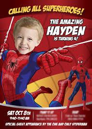 A Nice Sample Spiderman Spiderman Invitation Spiderman Birthday