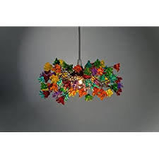 multi colored flowers lamp shade