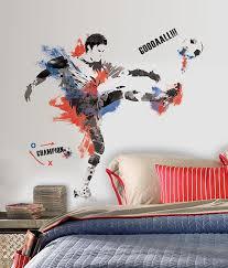 Soccer Mural Wall Decals Pottery Barn Wallpaper Cheap Design Ball Collage Vamosrayos