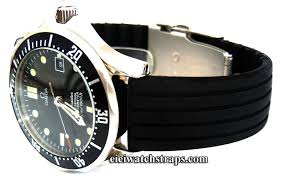 20mm silicon rubber watch strap with