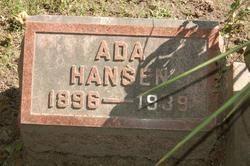 Ada Zimmerman Hansen (1896-1939) - Find A Grave Memorial
