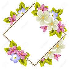 Marco Floral De Varias Flores Y Hojas Para El Diseno De Tarjetas