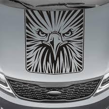 Eagle Face Blackout Truck Hood Decal Sticker Skunkmonkey