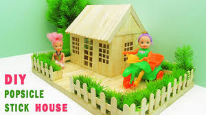 How To Make Popsicle Stick Garden Villa Simple Craft Ideas