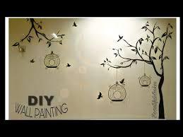 diy easy wall painting tree