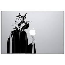 Amazon Com Maleficent Witch Vinyl Decal Sticker Skin For Macbook Laptop In Black Computers Accessories