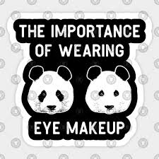 wearing eye makeup funny panda bear