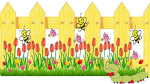 Yellow Fence Bulletin Boards Classroom Decor Page Borders Design Clip Art