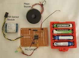 pir sensor module with a pic