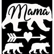Amazon Com Mama Bear 2 Cubs Vinyl Decal 5 X5 White Automotive