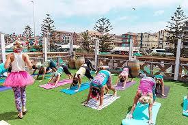 fluro friday ocean view charity yoga