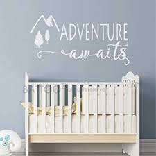 Amazon Com Battoo Adventure Awaits Wall Decal Stickers Adventure Quotes Travel Theme Wall Decor Wanderlust Wall Decal Mountain Wall Decal Bedroom Decor White 22 Wx11 H Furniture Decor