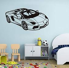 Amazon Com Xcdfr Wall Stickers Wall Sticker Fashion Sport Racing Car Waterproof Wall Decals Home Decoration Removable Vinyl Wall Art Stickers For Kids Room Wall Decor Home Kitchen
