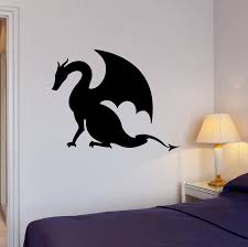 Wall Decal Dragon Tale Monster Fire Breathing Fantasy Vinyl Sticker E Wallstickers4you