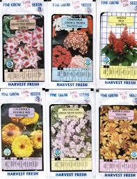 fine grow flower seeds packets garden