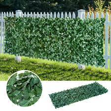 Outsunny Artificial Leaf Hedge Screen Privacy Fence Panel For Garden Outdoor Indoor Decor 3 X 1 Meters Dark Green On Onbuy
