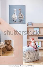 Fox Toy On Pouf Kids Room Interiors Stock Image 1389641186