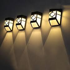 led lights garden path fence lamp