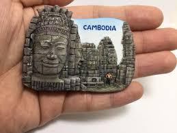 Angkor Wat Resin Fridge Magnets Cambodia Travel Souvenir Magnetic Sticker Refrigerator Magnets Home Garden