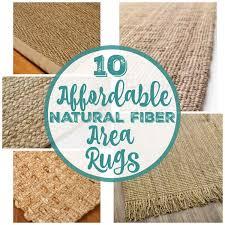 affordable natural fiber area rugs
