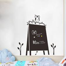 Cartoon Owl Blackboard Removable Vinyl Wall Stickers Chalkboard Decal For Nursey Kids Room Kindergarten Affordable Wall Decals Airplane Wall Decals From Kity12 2 52 Dhgate Com