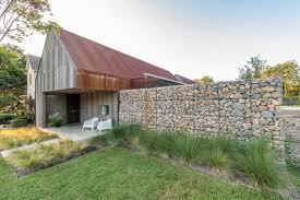The Charm Of Stone Gabion Basket Walls Houzz Au