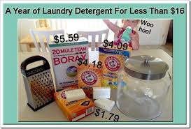 a year s worth of laundry detergent for