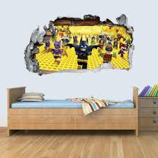 Gng 3d Lego Batman Kids Smashed Wall Art Sticker Boys Girls Bedroom Vi