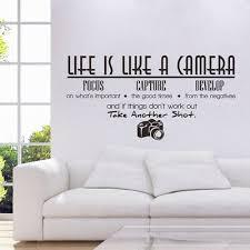 Background Coffee Removable Fashion Wall Sticker Mew Style Camera Ebay
