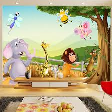 Cartoon 3d Wallpaper Forest Zoo Wall Murals Personalized Custom Photo Wallpaper Kids Bedroom Nursery Room Decor Animal Wallpaper 3d Wallpaper Photo Wallpapercustom Photo Wallpaper Aliexpress