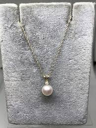 chain necklace akoya cultured pearl