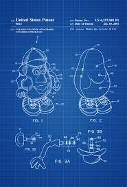 Mr Potato Head Patent Patent Print Wall Decor Toy Figure Toy Poster Toy Patent Kids Room Decor Nursery Decor Toy Story Mypatentprints Com
