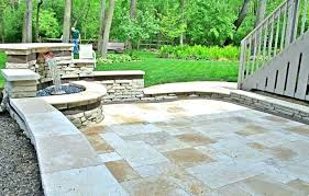 paver stone patio awesome fire pit